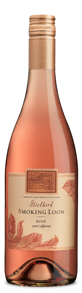 Smoking Loon Rosé chilled bottle