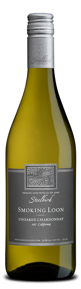 Smoking Loon 'Steelbird' Unoaked Chardonnay bottle