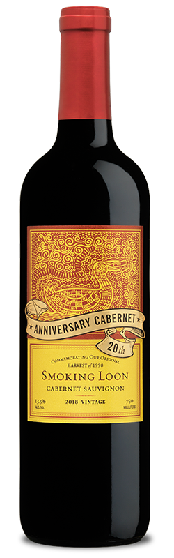 20th Anniversary Cabernet Sauvignon by Smoking Loon